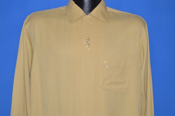 50s Sears Rockabilly Loop Collar Shirt Medium