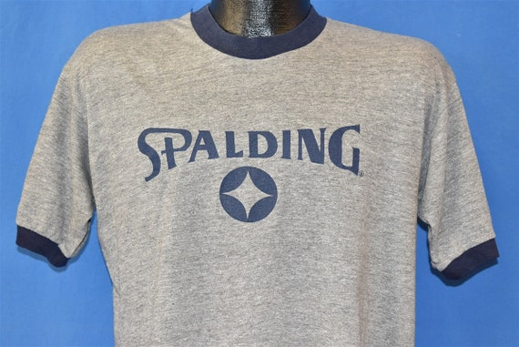 80s Spalding Basketball Ringer t-shirt Large