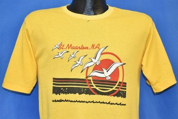 80s St. Maarten Island Caribbean Tourist Sunset t-