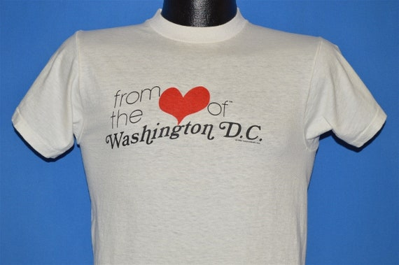80s From The Heart Of Washington DC Tourist t-shir