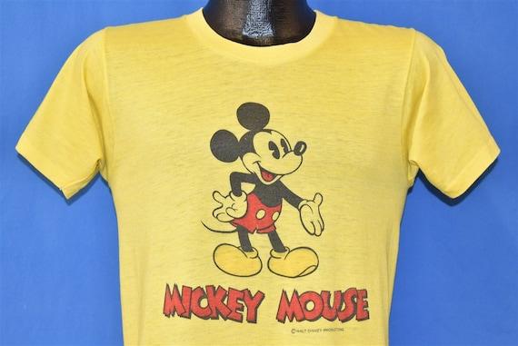 70s Mickey Mouse Walt Disney Soft Thin t-shirt Sma