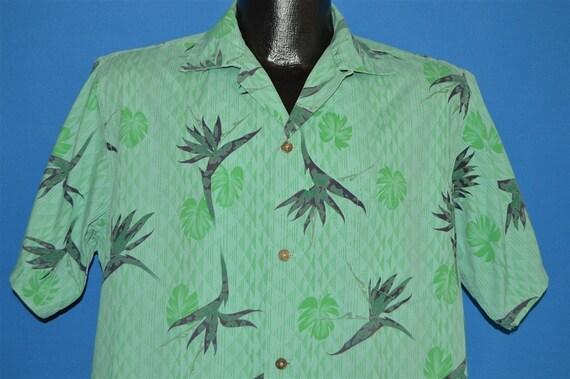 50s Holo Holo Bird of Paradise Aloha Hawaiian Shir