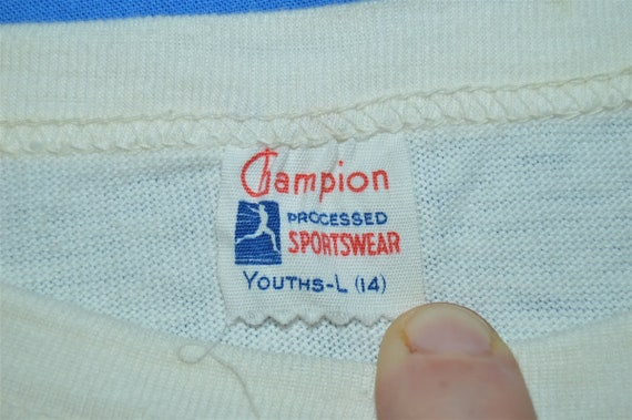 50s Camp Chateaugay Champion Running Man t-shirt … - image 5
