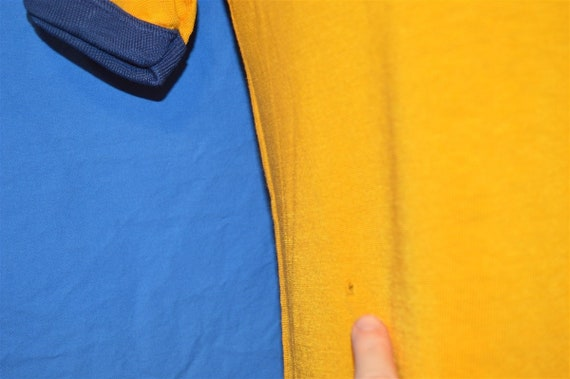 50s Southern Athletic Gold Blue Rayon Jersey t-sh… - image 5