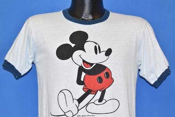 70s Mickey Mouse Walt Disney Cartoon Ringer t-shir