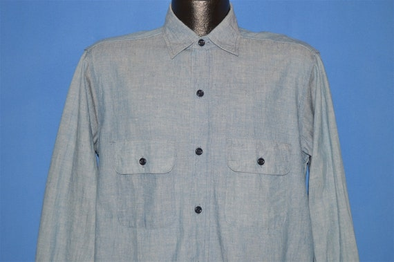 40s Chambray Denim Selvage Work Shirt Medium
