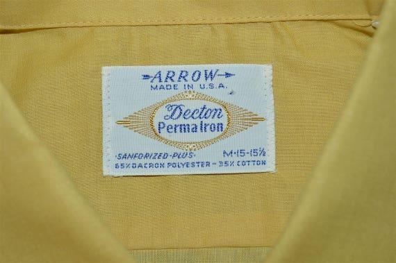 60s Arrow Yellow Loop Collar Deadstock Shirt Medi… - image 5