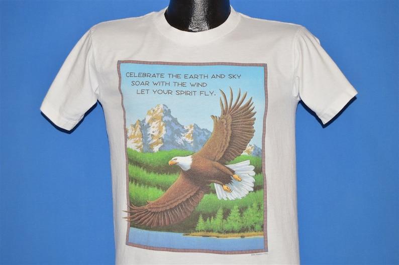 90s Celebrate The Earth And Sky Eagle t-shirt Medium