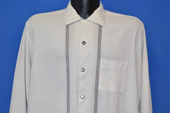 50s Da Vinci Loop Collar Button Down Shirt Large