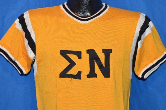50s Sigma Nu Greek Fraternity Jersey t-shirt Small