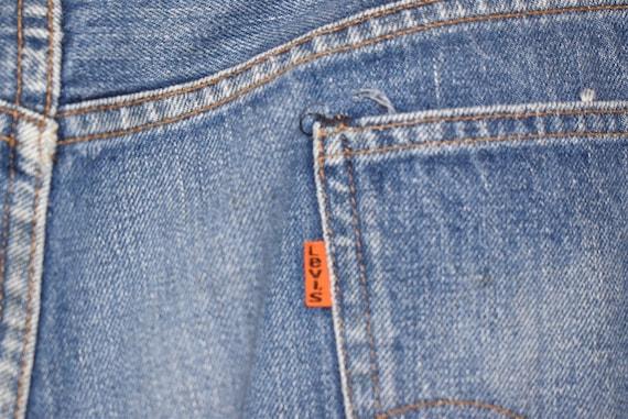 70s Levis Orange Tab Denim Blue jeans Size 39  - image 7