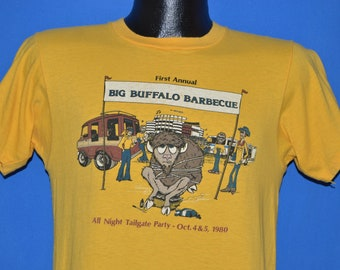 80s First Annual Big Buffalo Barbecue 1980 t-shirt Small