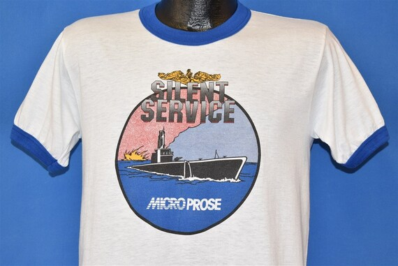 80s Silent Service Micro Prose Video Game t-shirt