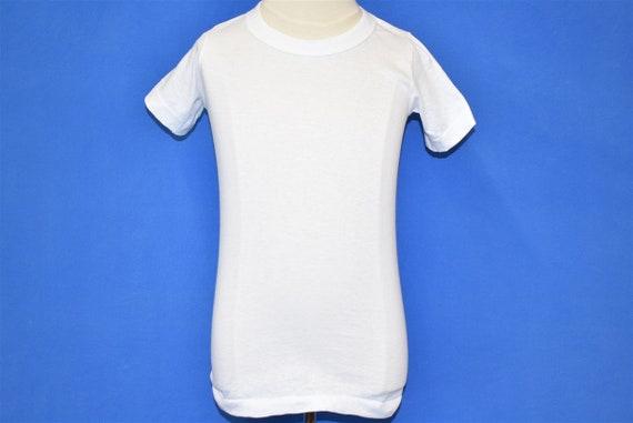 70s Blank White t-shirt Toddler 2T - image 2