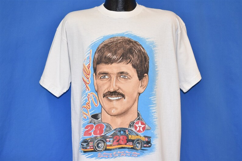 90s In Memory of Davey Allison #28 NASCAR t-shirt Extra Large