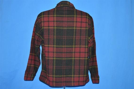 40s Pendleton Plaid Winter Wool Jacket Medium - image 3