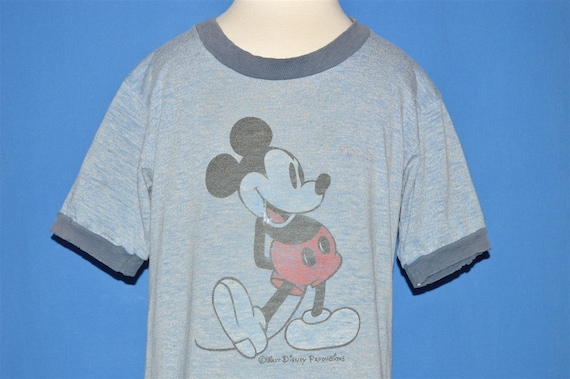 80s Mickey Mouse Ringer Distressed t-shirt Youth S