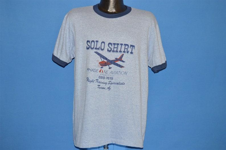 80s Phase One Aviation Flight School t-shirt Large