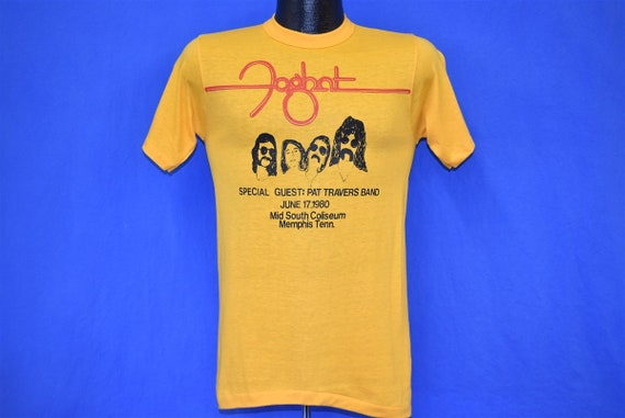 80s Foghat & Pat Travers Band 1980 t-shirt Small - image 2