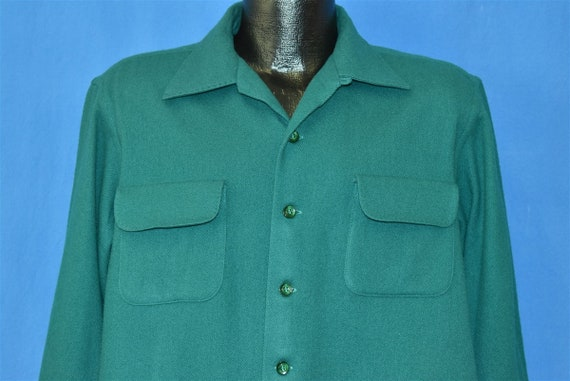 50s McGregor Green Wool Square Bottom Deadstock Po