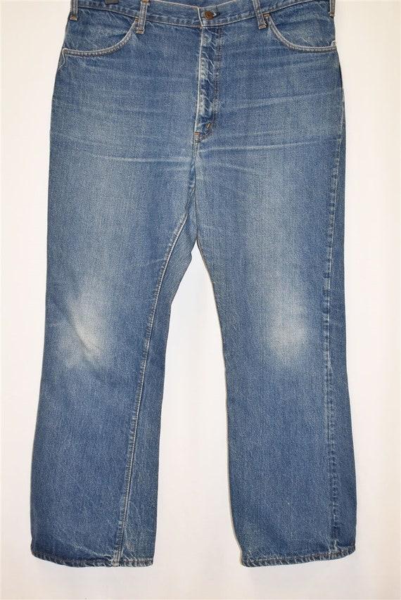 70s Levis Orange Tab Denim Blue jeans Size 39  - image 2