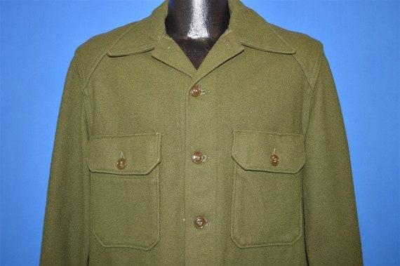 50s US Military Tapered Wool Jacket Shirt Medium