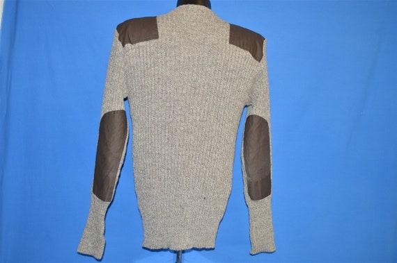 80s LL Bean Brown Wool Rib Knit Sweater Medium - image 3