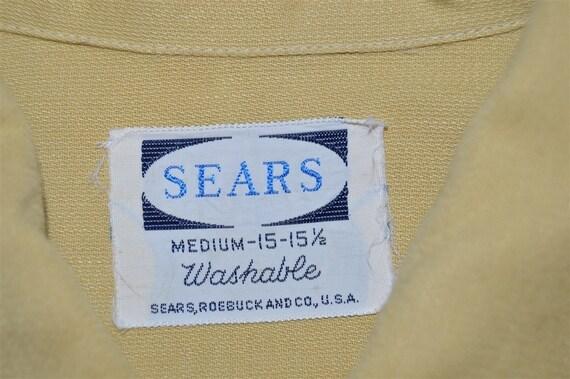 50s Sears Rockabilly Loop Collar Shirt Medium - image 6