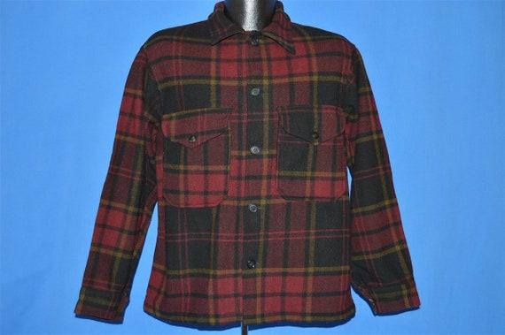 40s Pendleton Plaid Winter Wool Jacket Medium - image 2