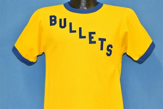 70s BPOE Bullets Yellow Blue Ringer Waffle Weave t