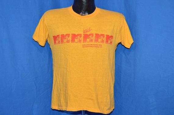 80 San s US Festival MTV Labor Day 1982 San 80 Bernardino CA jaune Vintage t-shirt Medium cda444