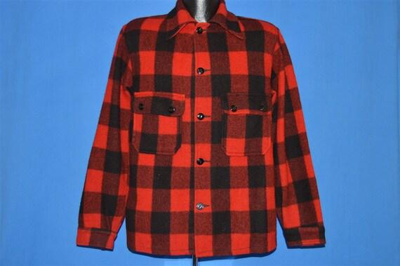 40s Chippewa Buffalo Plaid Wool Hunting Jacket Me… - image 2