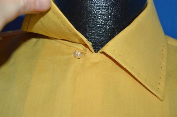 60s Arrow Yellow Loop Collar Deadstock Shirt Medi… - image 3