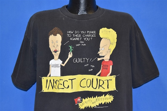 90s Beavis and Butthead MTV Insect Court t-shirt L