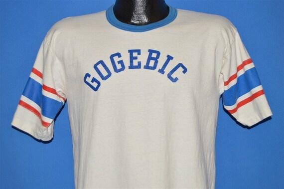 70s Gogebic Community College Ringer t-shirt Mediu