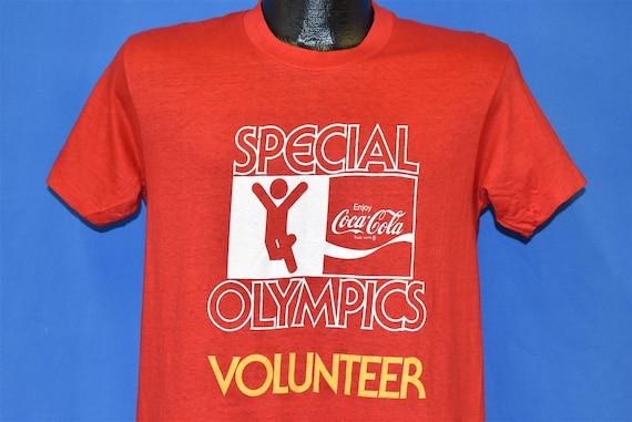 70s Coca Cola Special Olympics Volunteer Soft Dead