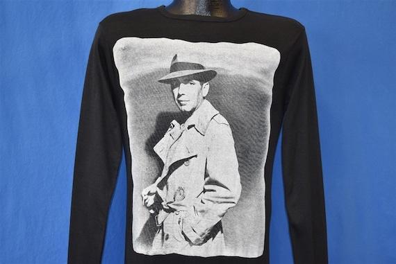 70s Humphrey Bogart Invisible Stripes LS t-shirt E