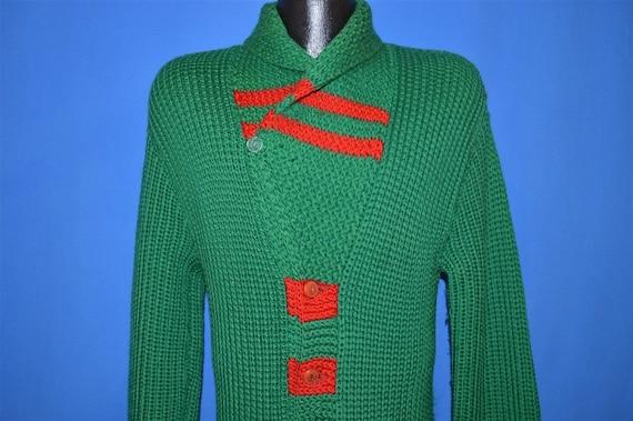 30s Shawl Collar Standard Knitting Mills Wool Car… - image 5