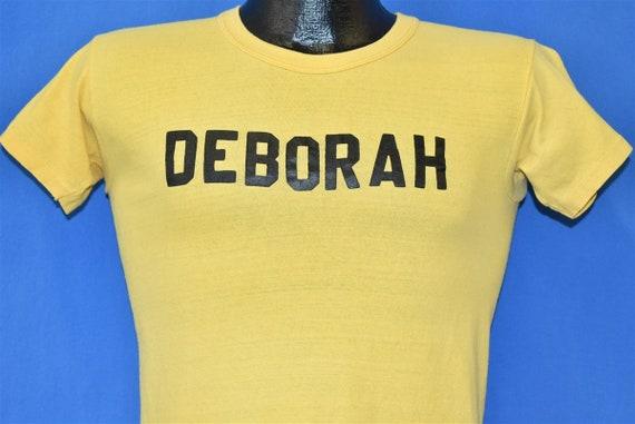 70s Deborah Sharks Iron On Mustard Yellow t-shirt