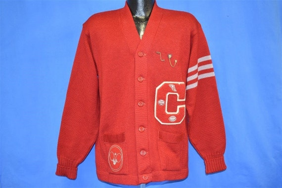 50s Red Varsity Letterman Ping Pong Track 1953 CC… - image 2