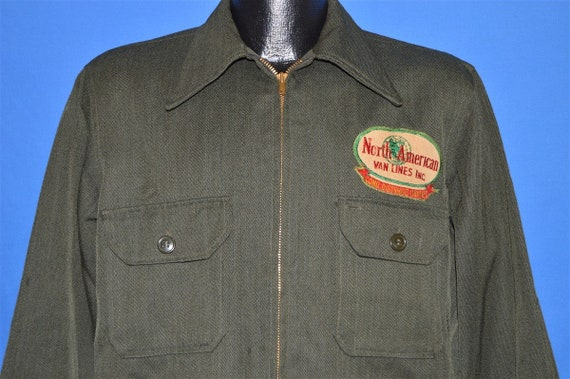 40s North American Van Lines Wool Uniform Jacket L