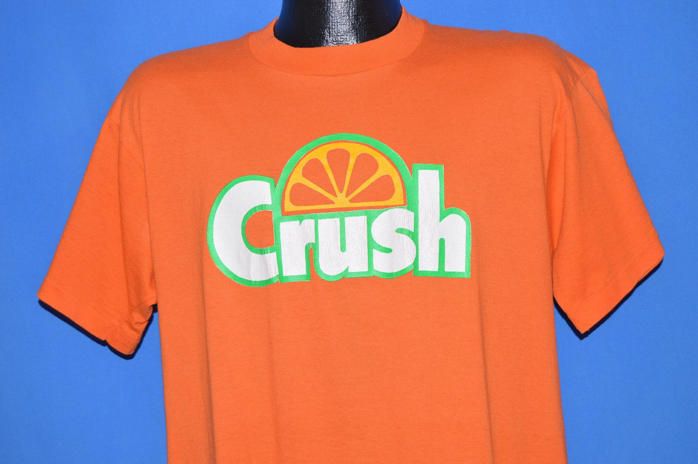 80 s écraser Orange Large Soda t-shirt Extra Large Orange 97ca53