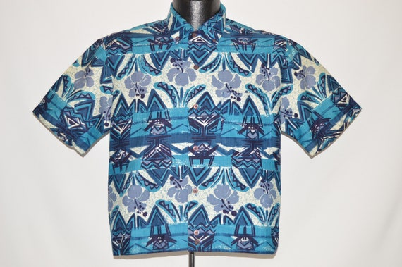 50s Iolani Aloha Shirt-Jac Hawaiian shirt Medium
