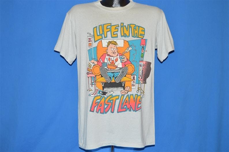 80s Life In the Fast Lane t-shirt Medium