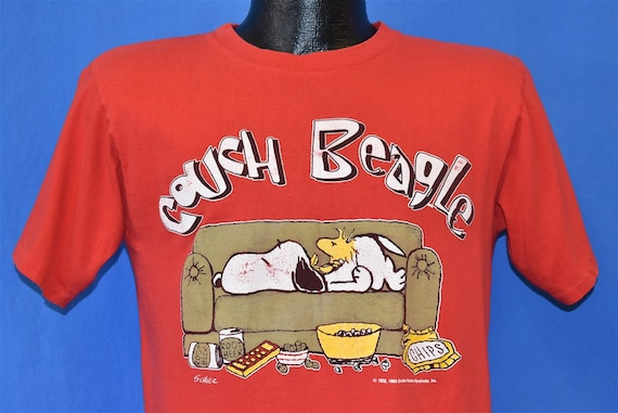 80s Couch Beagle Snoopy Woodstock Peanuts t-shirt