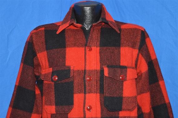 60s Woolrich Plaid Wool Hunting Jacket shirt Mediu
