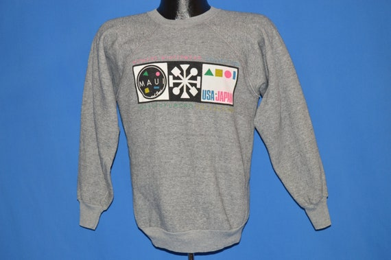 80 s Maui Maui s And Sons Surf et Skateboard Sweatshirt Medium bf57ec