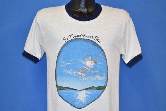 70s Fort Myers Beach Florida Sunset Ringer t-shirt