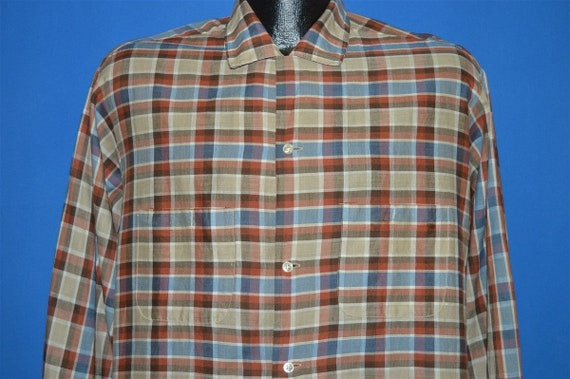50s California Loop Collar Plaid Button Down shirt