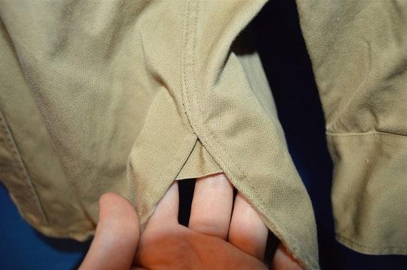 50s Korean War Khaki Military Uniform Shirt Medium - image 3